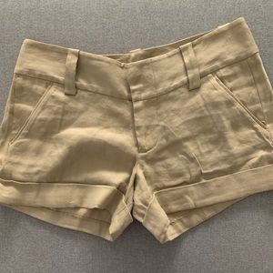 Alice + Olivia Tan Cuffed Shorts